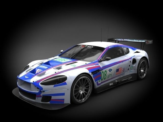 aston martin dbr9 lemans 2007 3d model max c4d ma mb 1