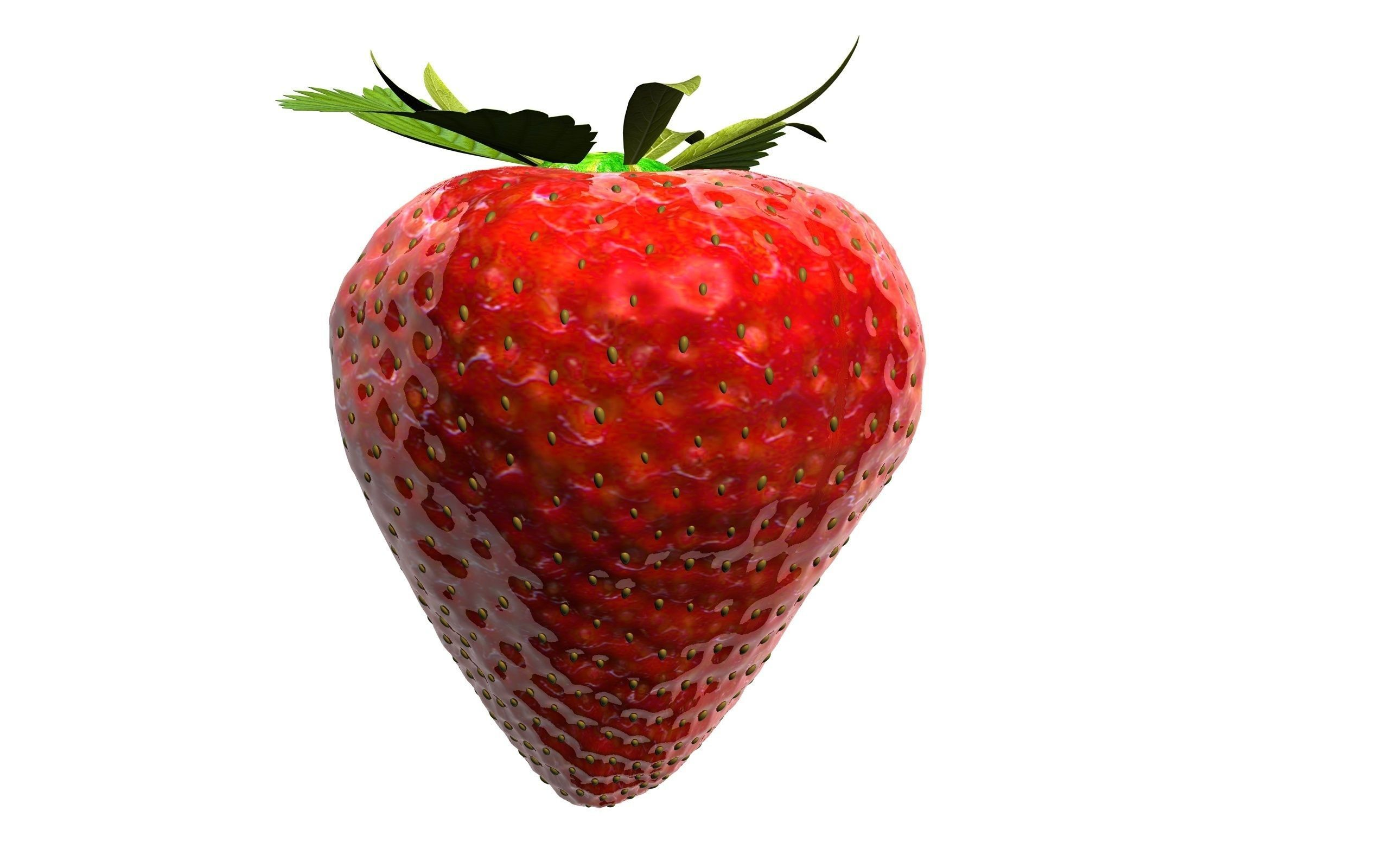 Strawberry on white background 3d illustration for Your Desing