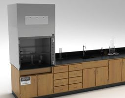 Laboratory Table 02 3D