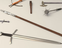 3D model historic weapon collection