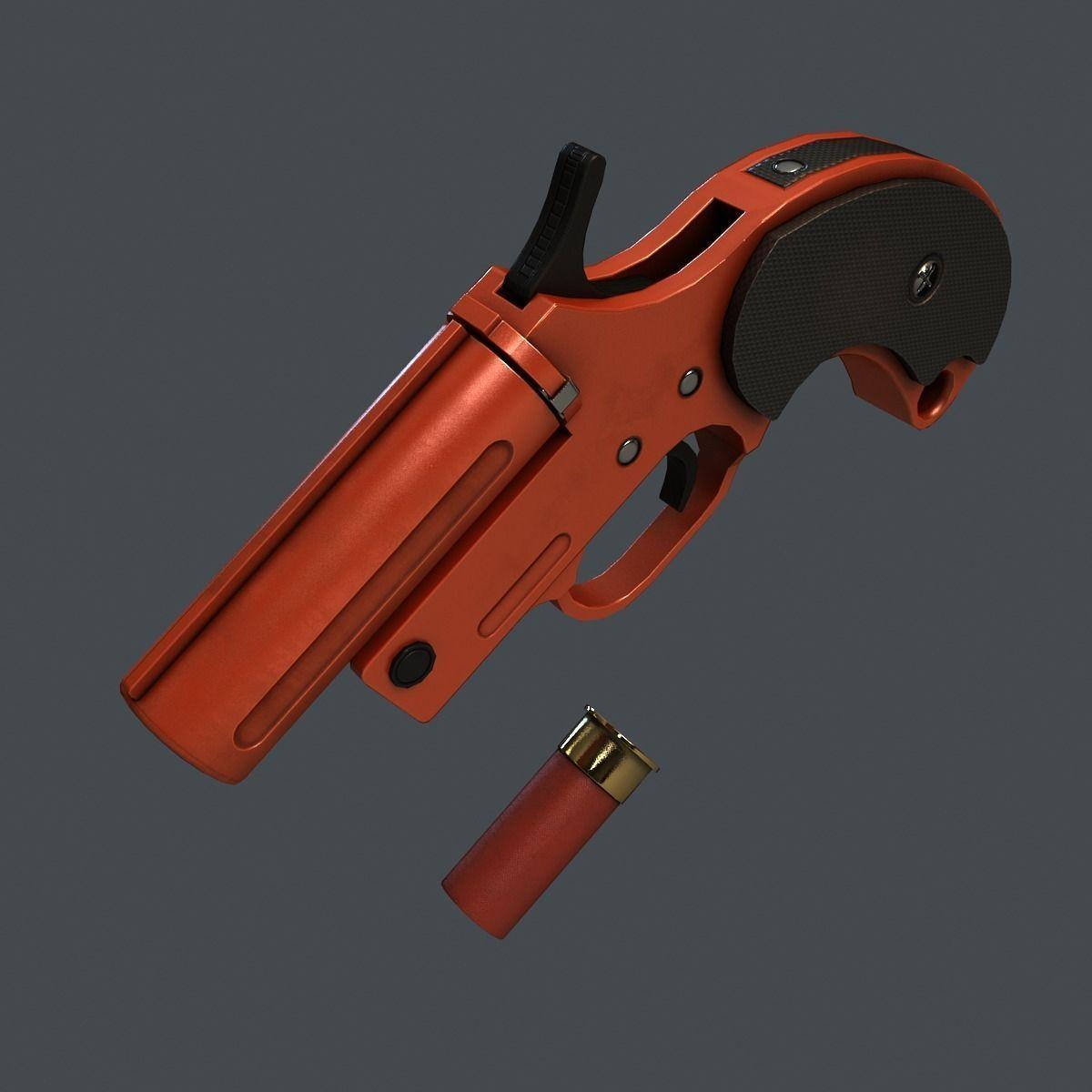 3d Gun Image 3d Home Architect: 3D Model Flare Gun VR / AR / Low-poly MAX OBJ FBX