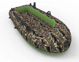 3D Inflatable Raft Camo Boat