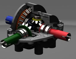 differential gear box 3d