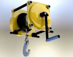 winch capacity 500 kg 3d model