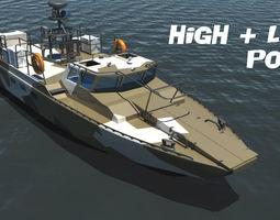 3D model combat boat BK-16