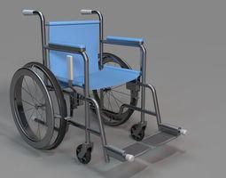 3D model wheelchair modeled