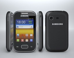 samsung galaxy pocket gts5301 3d model max obj 3ds fbx