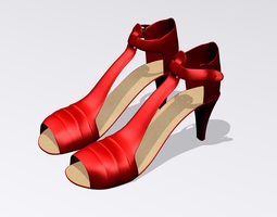 Red High Heel Shoes 3D model