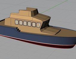 basic ship model 3d