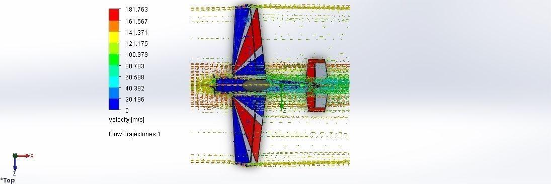 Yak - 55 Flow simulation using solidworks free 3D model