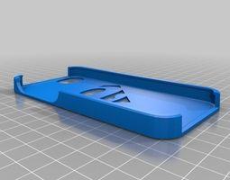 3d print model iphone 5 superman logo case