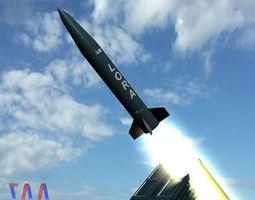 3d model lora missile