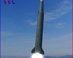 3d pershing ii ballitic missile
