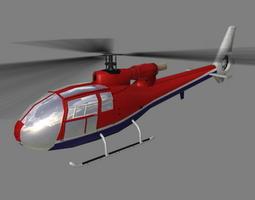 Gazelle V4 Helicopter 3D Model