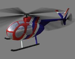Hughes500 V1 Helicopter 3D model