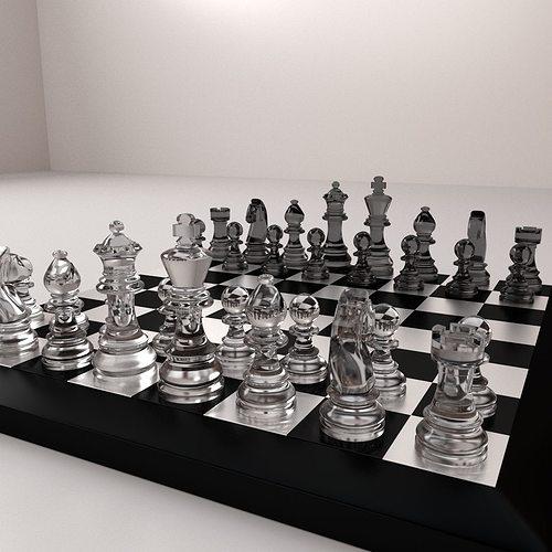 chessboard 3d model 3ds fbx blend dae 1