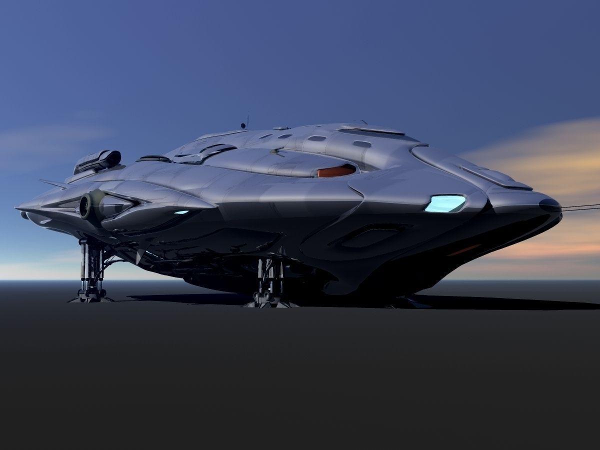 Phaelon Deep Space Transport 3D Model OBJ | CGTrader.com