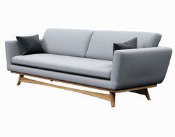 game-ready 3d asset sofa red edition scandinavian design