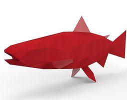 Mega Salmon 3D Model realtime