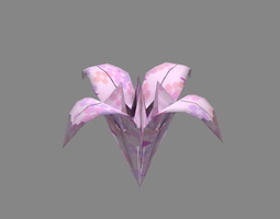 Origami 3d models cgtrader 3d asset origami lily mightylinksfo
