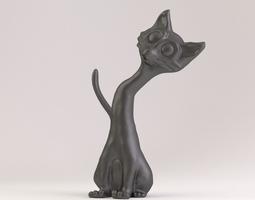 cat phone stand 3d print model