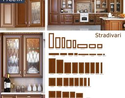 3d model stradivarius facade-line for kitchen and cabinet furniture