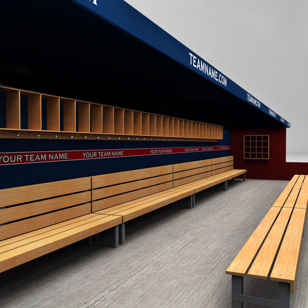3d Model Baseball Stadium Dugout Cgtrader
