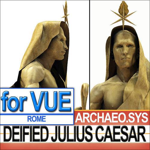 statue of deified julius caesar 3d model 3ds vue 1