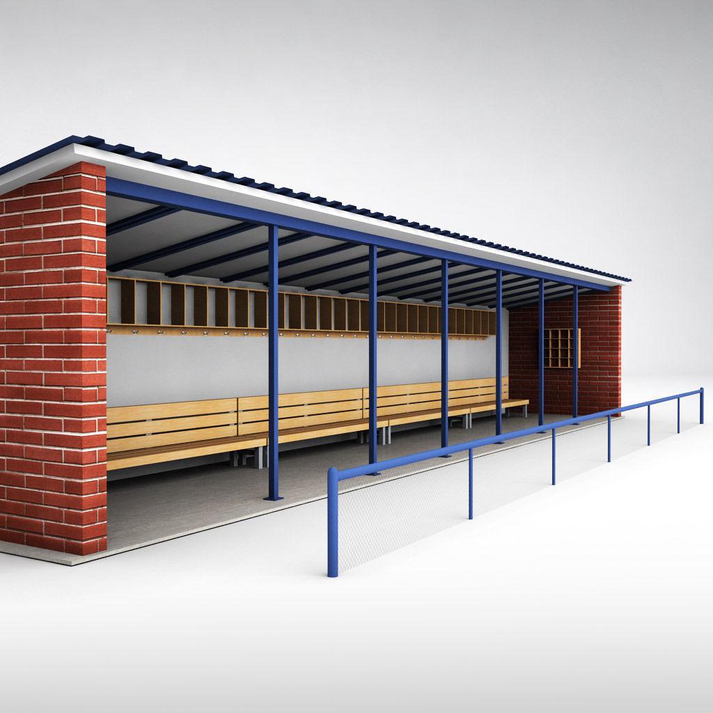 Baseball Stadium Dugout Bench Crowd 3d Model Cgtrader