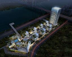 3d office buildings 029
