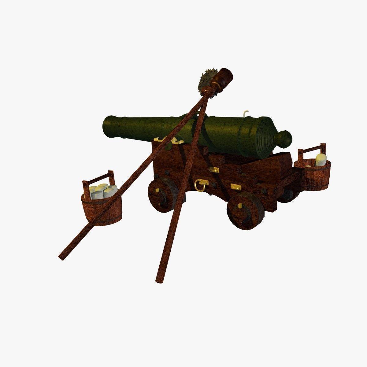 English Naval Gun XVIII Century