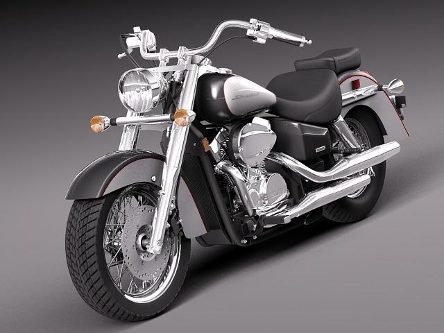 honda shadow aero 750 2 3d model max obj 3ds fbx c4d lwo lw lws