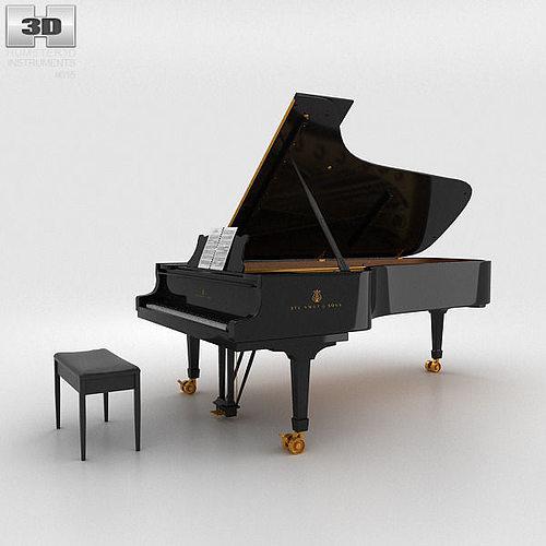 grand piano 3d model max obj mtl 3ds fbx c4d lwo lw lws 1