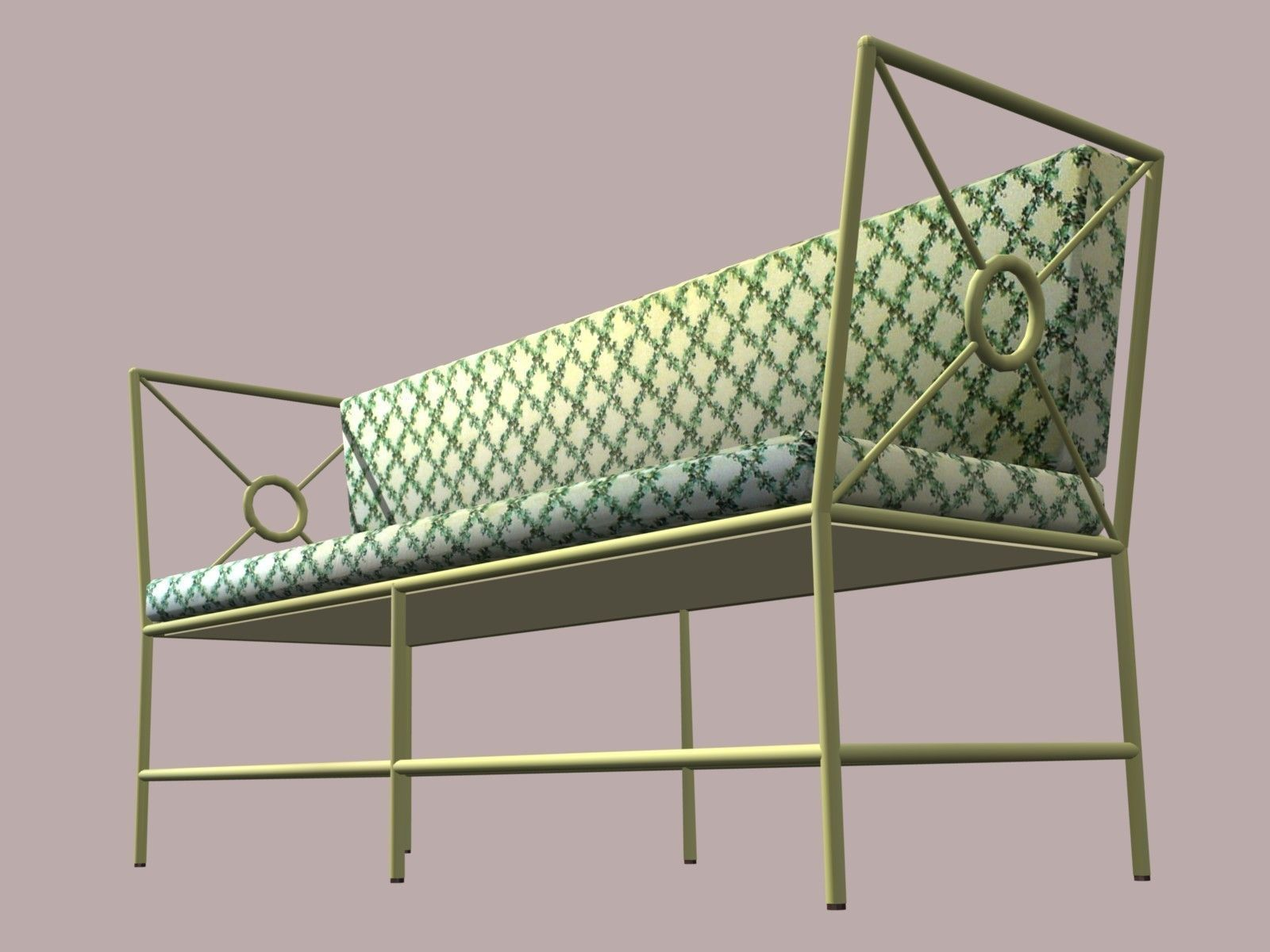 Wrought Iron Sofa Model Low Poly Max Obj Mtl Blend Wrl Wrz