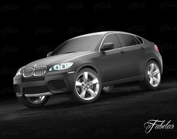 bmw x6 2013 3d model