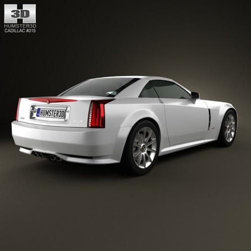Cadillac XLR 2009 3D Model MAX OBJ 3DS FBX C4D LWO LW LWS
