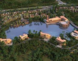 3D Island Resort village