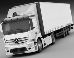 Mercedes Antos with trailer 3D Model