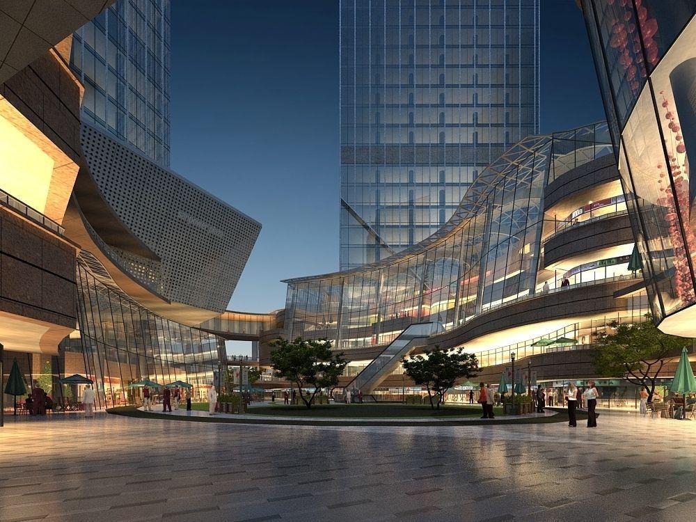Modern mall interior 3D model | CGTrader