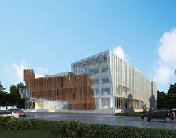Modern office building city 3D model
