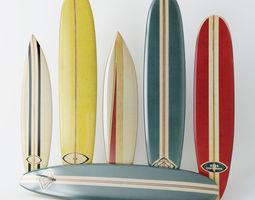 vintage longboard  3d model