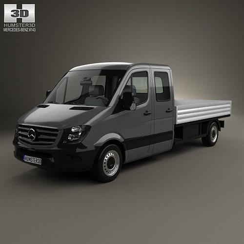 mercedes sprinter drop side cab 2013 3d model