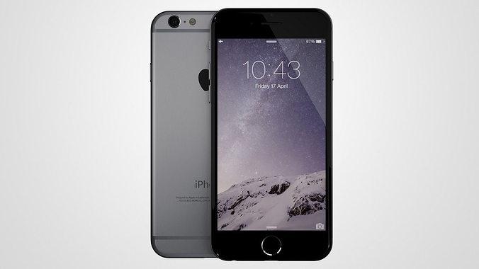 iphone 6 3d model obj mtl ma mb 1