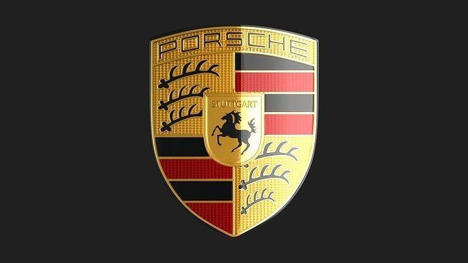 3d Model Porsche Logo Emblem Cgtrader