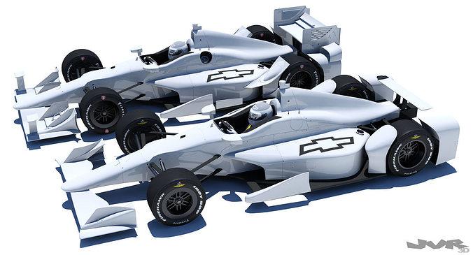 indycar chevrolet road and oval aero kit 3d model max obj mtl 3ds fbx pdf 1