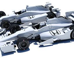 Indycar Honda road and oval aero kit 3D Model