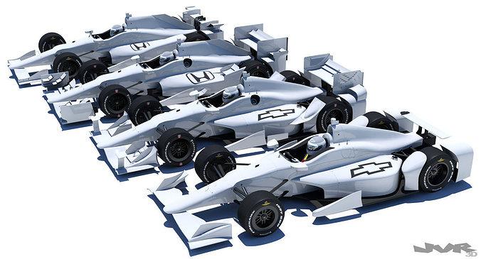indycar road and oval aero kit 3d model max obj 3ds fbx mtl pdf 1