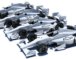 indycar road and oval aero kit 3d model max obj 3ds fbx