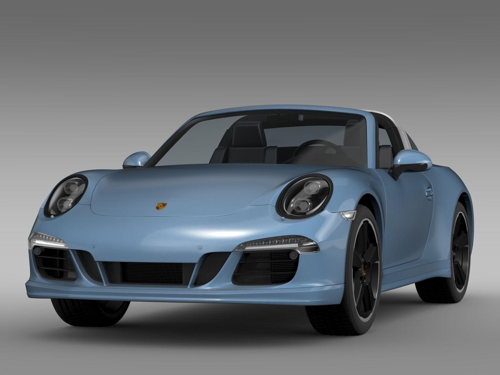 Porsche 911 Targa 4s Exclusive 2015 3d Model Max Obj 3ds