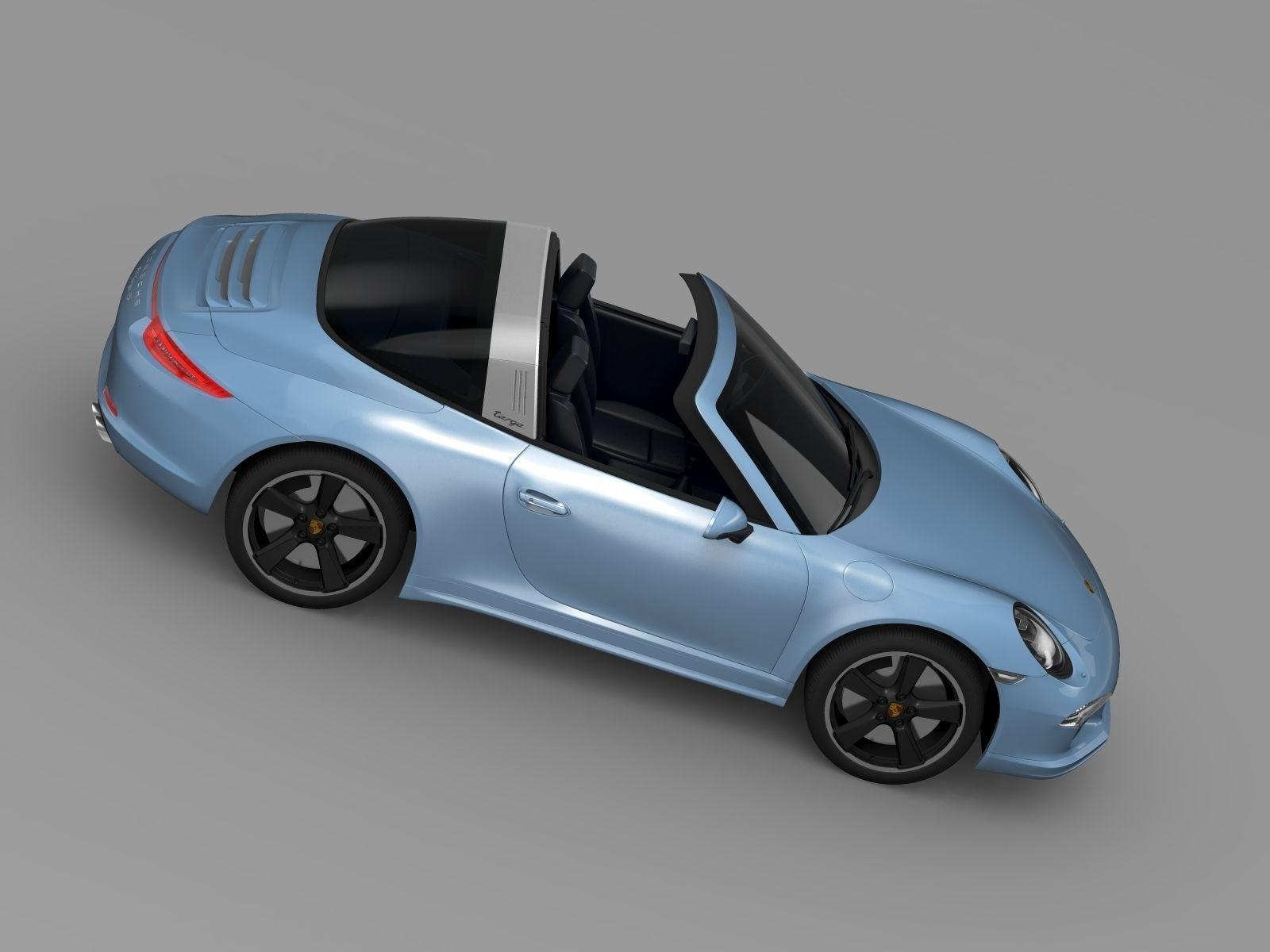 porsche 911 targa 4s exclusive 2015 3d model max obj 3ds fbx c4d lwo lw lws. Black Bedroom Furniture Sets. Home Design Ideas
